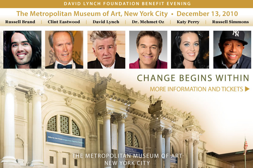 "David Lynch Foundation ""Change Begins Within"" Benefit"